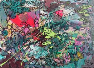 Frog by Mana Iwamoto
